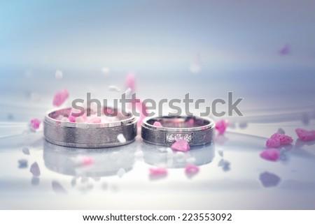 weddings rings - stock photo