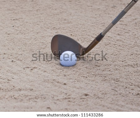 wedge out of the bunker - stock photo