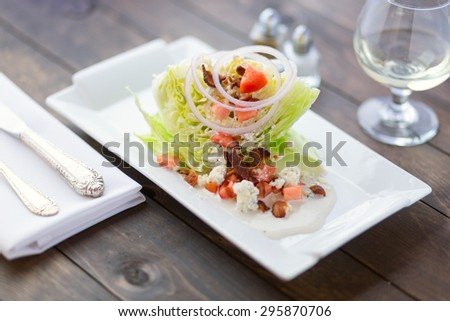 wedge salad - stock photo