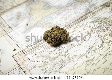 Weed. Marijuana and Cannabis  - stock photo