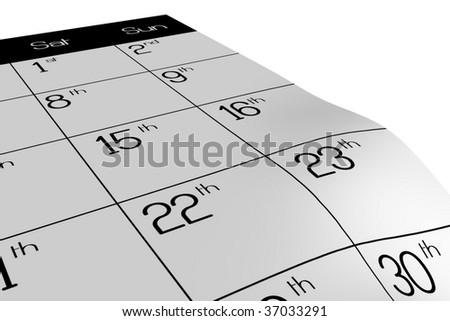 weekend symbol on the calendar - stock photo