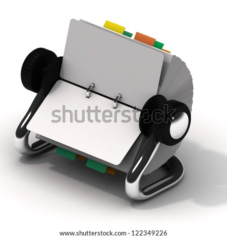 Weekly on desk business project planner book on white background - stock photo