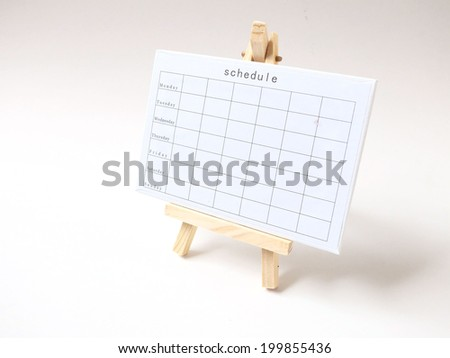 Weekly planner - stock photo