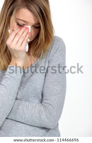 Weeping Woman - stock photo