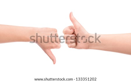 Weigh all pros and cons gesture concept. Isolated on white.