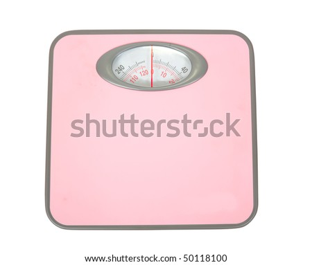 Weighing scales (high key), isolated on white background. - stock photo