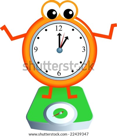 weighing time - stock photo