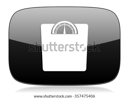 weight black glossy web modern icon