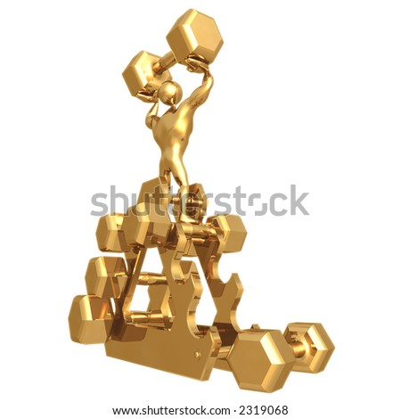 Weight Lifting - stock photo