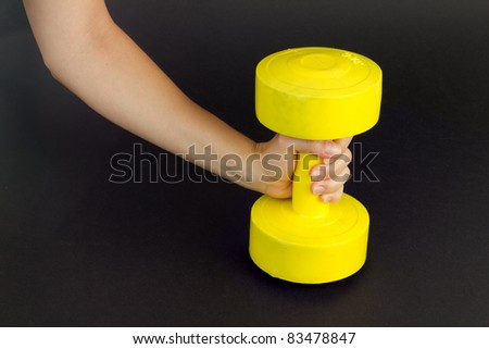 Weight lifting - stock photo