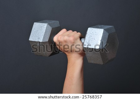 Weight lifting Dumbells - stock photo