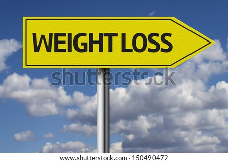 Weight Loss creative sign - stock photo