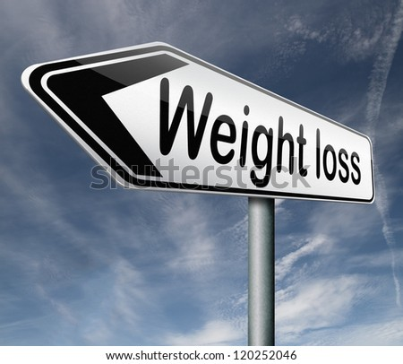 weight loss losing weight dieting diet healthy lifestyle road sign arrow