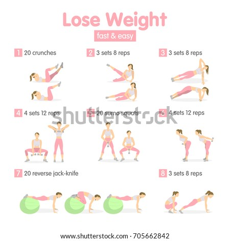 Weight Loss Training For Women With Equipment Fast And Easy Lose Concept