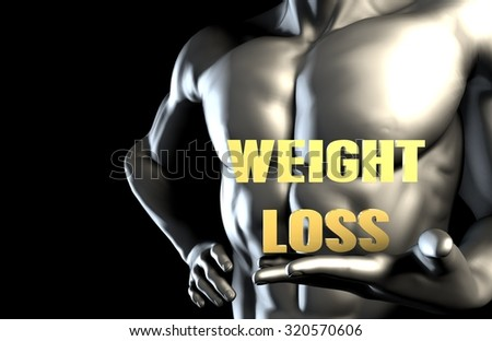 Weight Loss With a Business Man Holding Up as Concept