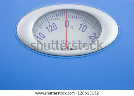 weight scale close up