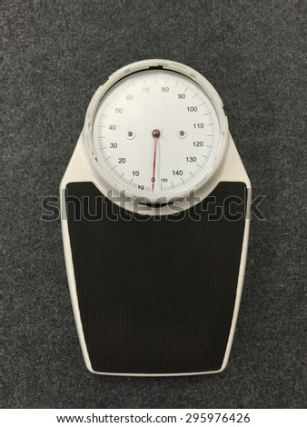Weight Scale in hospital - stock photo