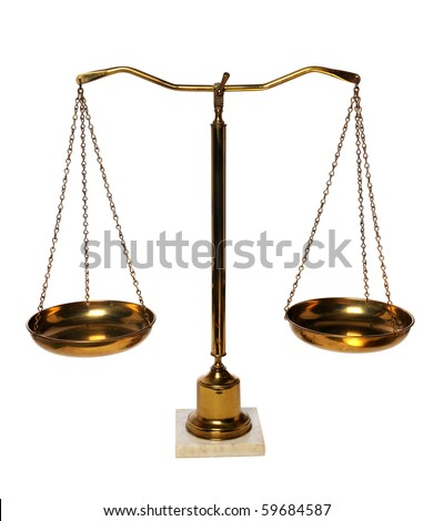 Weight scales isolated over white background - stock photo