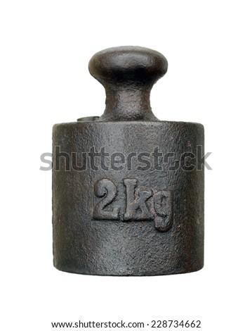 weight - two kilograms - stock photo