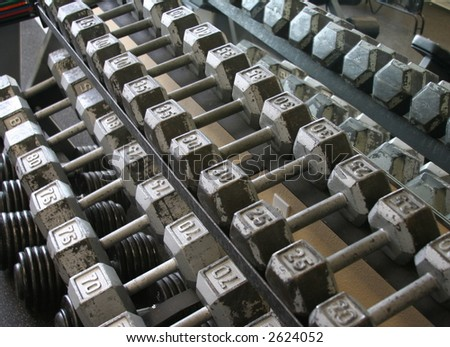 Weights/Fitness - stock photo