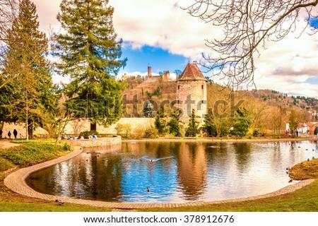 Weinheim, Schlossgarten  - stock photo