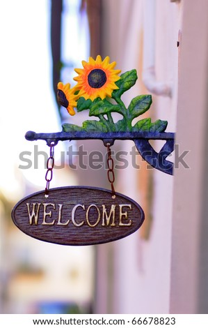 welcome - stock photo