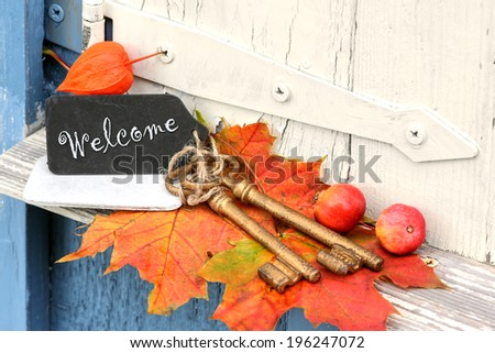 Welcome at home - stock photo