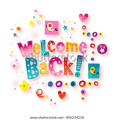 Welcome back greeting card stock illustration 406234258 shutterstock m4hsunfo