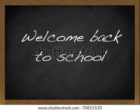 Welcome back to School blackboard - stock photo