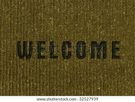 Welcome Home door mat - stock photo