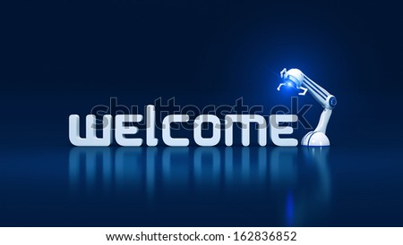 welcome robotic - stock photo