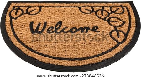 Welcome Sign, Doormat, Floor Mat. - stock photo
