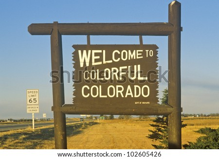 Welcome to Colorado Sign - stock photo