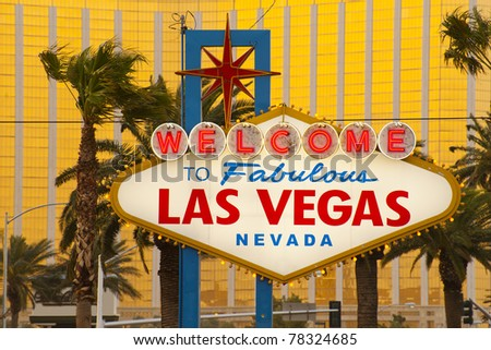 Welcome to Fabulous Las Vegas Sign, Nevada, USA