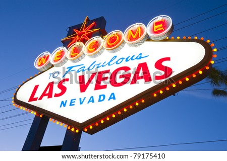 Welcome to Famous Las Vegas Welcome Sign - stock photo