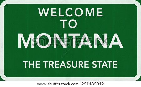 Welcome to Montana USA Road Sign - stock photo