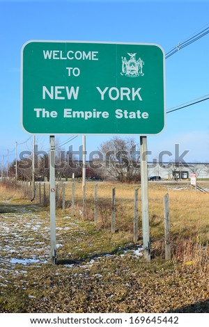 welcome to New York - stock photo