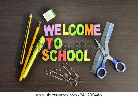 Welcome to school concepts - stock photo