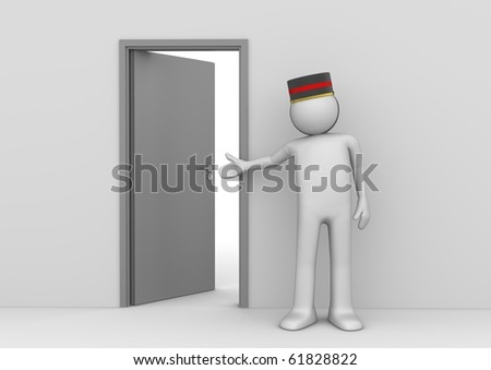 Welcome to your room - Travel collection - stock photo
