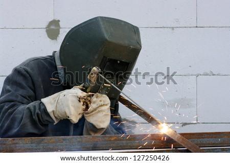 welder - stock photo