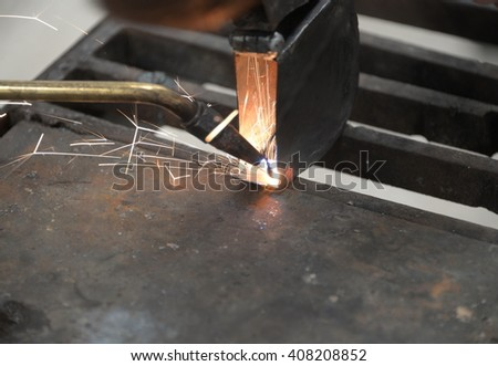 Welder,Welding,Gas welding - stock photo