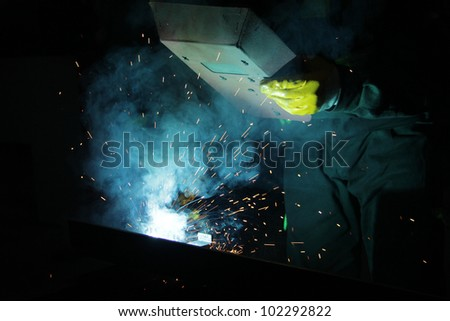 Welding - stock photo