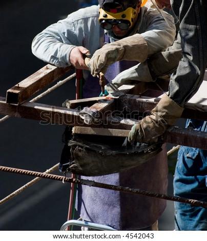 Welding Construction Workers - stock photo