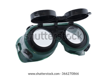 welding goggles isolated
