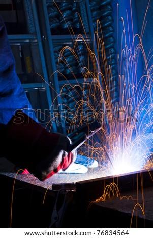 welding iron - stock photo