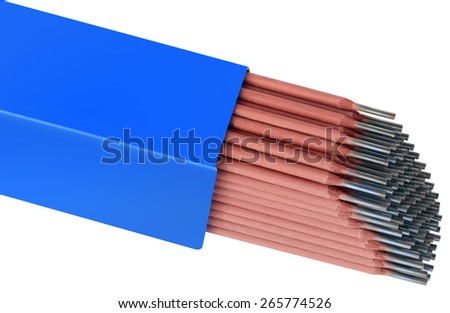 Welding Rods Isolated with Clipping Path - stock photo