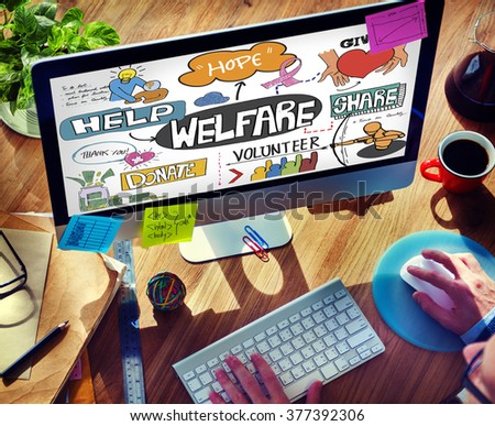 Welfare Support Benefit Payment Retirement Concept - stock photo