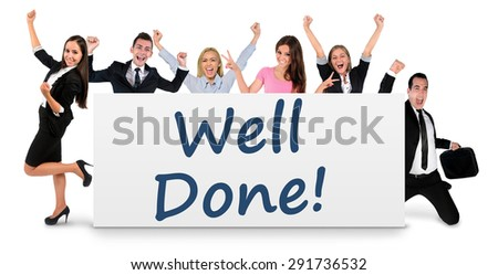 Well done word writing on banner - stock photo