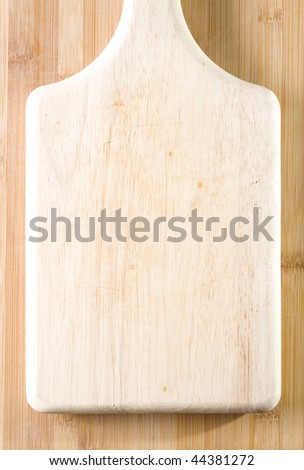 Well used chopping board