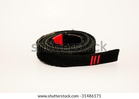 Well Worn Black Belt - stock photo